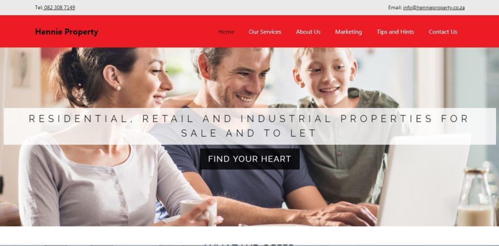 LoveLocal Website Design 006 Hennie Property